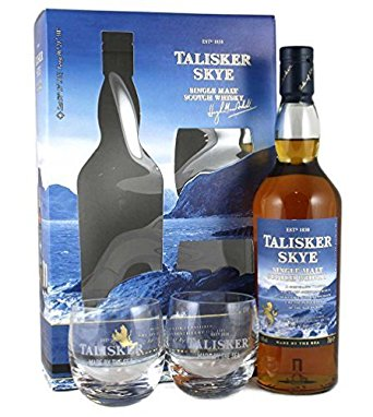 Talisker Skye Gift Pack - 70cl Bottle with 2 Glasses