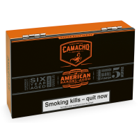 Camacho American Barrel Aged Robusto Cello Cigar - Box of 20