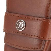 ST Dupont Line D Leather Lighter Case - Brown