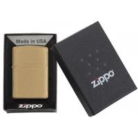 Zippo - Brushed Brass Solid Brass Lid - Windproof Lighter