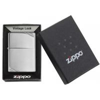 Zippo - High Polished Chrome Vintage with Slashes - Windproof Lighter