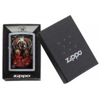Zippo - Street Chrome Anne Stokes Fire Dragon - Windproof Lighter