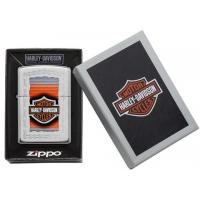 Zippo - High Polish Chrome Harley Davidson Frame - Windproof Lighter