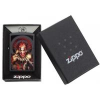 Zippo - Matte Black - Anne Stokes Evil Clown - Windproof Lighter