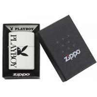Zippo - Whitte Matte Playboy Peekin Bunny - Windproof Lighter