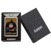Zippo - Brushed Chrome - US Navy Enlist Now - Windproof Lighter