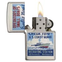 Zippo - Brushed Chrome US Coast Guard - Windproof Lighter