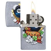 Zippo - Street Chrome Lucky Tattoo - Windproof Lighter