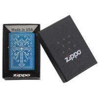 Zippo - High Polish Blue Elegant Cross Design - Windproof Lighter