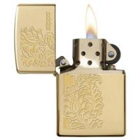 Zippo - High Polish Brass Paisley Design - Windproof Lighter