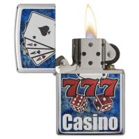Zippo - High Polish Chrome - Fusion Casino - Windproof Lighter