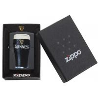 Zippo - Black Matte Guinness Pint Glass - Windproof Lighter