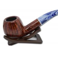 Savinelli Oceano Burgundy Smooth Bent Apple 626 6mm Pipe (SAV40)