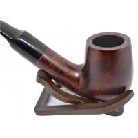 Adsorba Dark Brown Smooth Billiard Full Bent Pipe