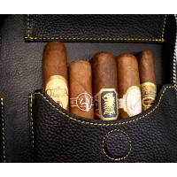 Adorini Leather Cigar Case and New World Selection Sampler - 5 Cigars