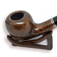 Aldo Velani Soave Smooth Dark Brown 9mm Filter Fishtail Pipe (AV08)