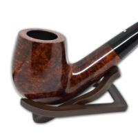 Alfred Dunhill Pipe – The White Spot Amber Root Group 4 Bent Pipe (4102)