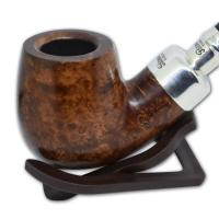 Peterson Natural Army Sterling Silver Spigot Fishtail XL90 Pipe (AS002)