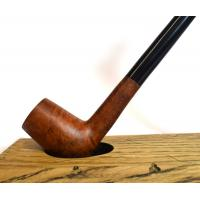 Real Briar Brown Chimney Metal Filter Long Churchwarden Fishtail Pipe (BRC001)