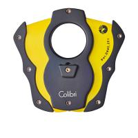 Colibri Monza Cigar Cutter - Rubberized Black & Yellow Blades