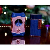 Colibri Julius Lighter & SV Cutter Set - Black & Rose