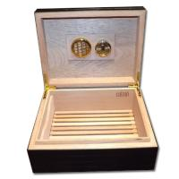 Colton Black Brick Humidor - 40 Cigar Capacity