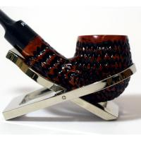 Dr Plumb Dinky Rustic Metal Filter Fishtail Briar Pipe (DP055)