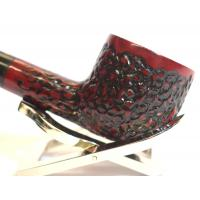 Dr Plumb Carved Rustic Metal Filter Briar Fishtail Pipe (DP093)