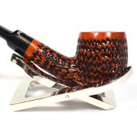 Dr Plumb Lightweight Metal Filter Fishtail Carved Briar Pipe (DP096)