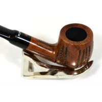 Dr Plumb Carved Rustic Metal Filter Briar Fishtail Pipe (DP124)