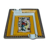 Elie Bleu Porcelain Cigar Ashtray - Alba Gold Yellow