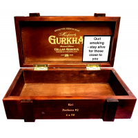 Empty Ghurka Celler Reserve Perfecto Box