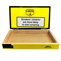 Empty Camacho Connecticut Robusto Tubos Cigar Box - Yellow