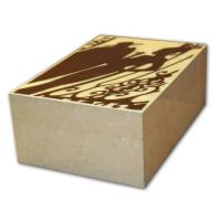 Gentili Chico y Maria Inlay - Cream Finish Cigar Humidor – 20 cigars capacity