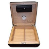 Gentili Desk Top Cigar Humidor – Ostrich Black – 10 Capacity