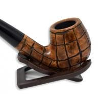 Hardcastle Briar Root 121 Checkerboard Fishtail Bent Pipe (H0021)