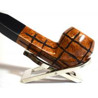 Hardcastle Briar Root 103 Checkerboard Straight 9mm Filter Fishtail Pipe (H0150)
