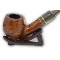 Molina Horn Ring Full Bent Apple Brown Pipe