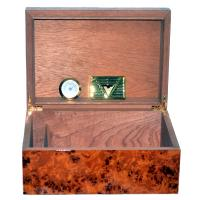 The North Dark Burl Humidor - 25 Cigar Capacity