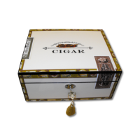 SALE - SLIGHT SECONDS Cigar Box Theme Humidor – up to 60 Cigar Capacity