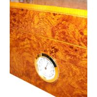 Cambridge Light Burl Humidor – Up to 40 Cigar Capacity