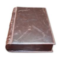 Brown Leather Book Style Humidor