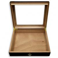 Diego Glass Top Walnut Humidor – 20 Cigars Capacity