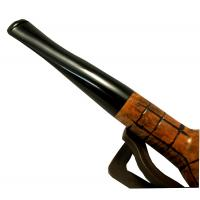 Hardcastle Briar Root 112 Smooth Rustic Checkerboard Fishtail Straight Pipe