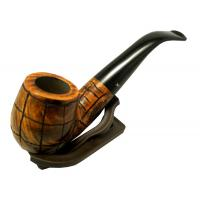 Hardcastle Briar Root 123 Smooth Rustic Checkerboard Fishtail Bent Pipe