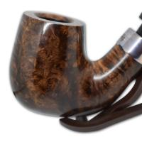 Peterson Large House Bent Billiard Oak P/Lip Pipe (SS1040)
