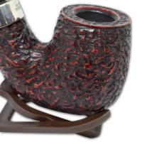Peterson Large House Bent Rustic 9mm Bent P/Lip Pipe