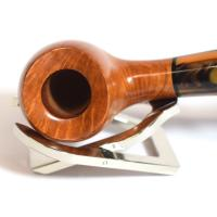 Jemar Principe Albert Rovera Alabaster 9mm Filter Bent Fishtail Pipe (JM081)