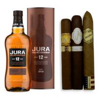 Jura 12 Year Old Single Malt Scotch Whisky + Mild Cigars Pairing Sampler