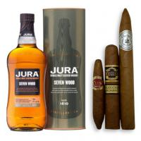Jura Seven Wood Single Malt Scotch Whisky + Cigar Selection Pairing Sampler